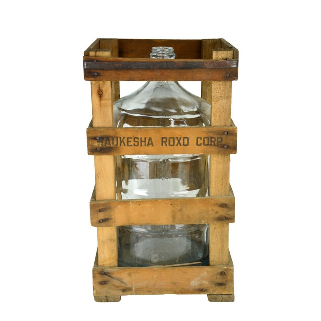 Image of Vintage Water Jug and Crate