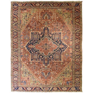 Vintage Persian Heriz Rug