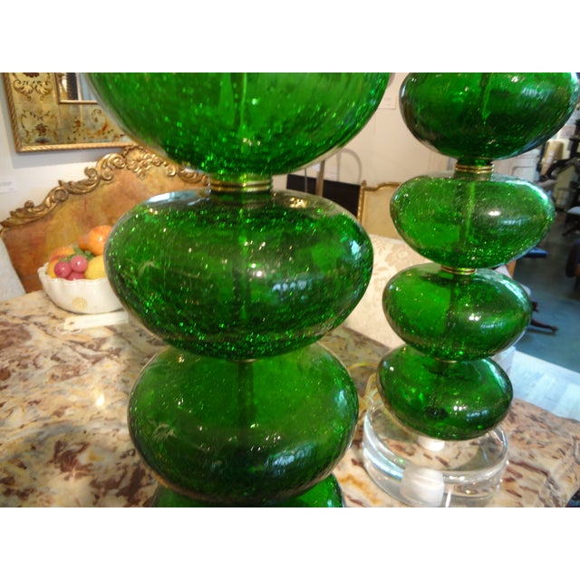 Murano Mid-Century Glass Table Lamps - A Pair - Image 3 of 6