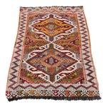 Image of Anatolian Tribal Embroidered Kilim Area Rug -2′6″ × 3′10″