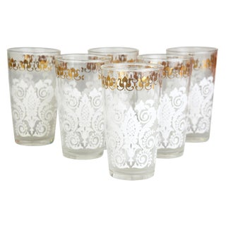 Lace Drinking Glasses - Set of 6