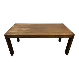 West Elm Contemporary Rustic Oak Dining Table
