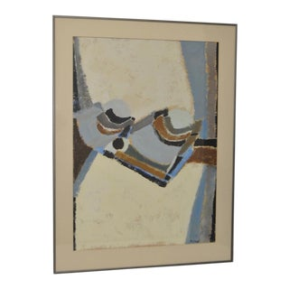 1970s Abstract Painting by San Francisco Artist Phyllis Cimenti.