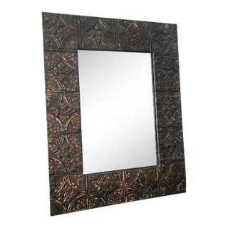 Antique Tin Ceiling Tile Mirror