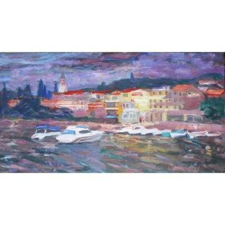 Portofino Original Painting by Murat Kaboulov
