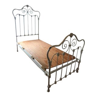 Antique Victorian White Bedframe