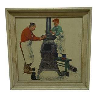 """The Apprentice"" Framed Norman Rockwell Print"