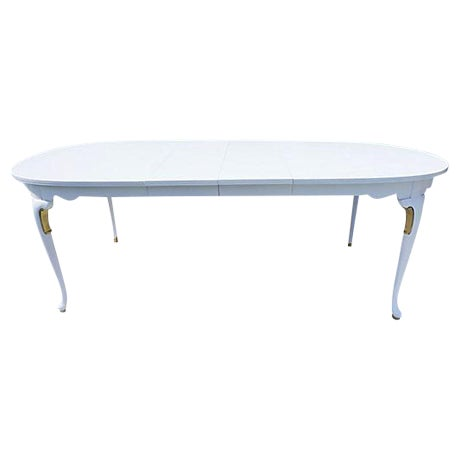 French Style White And Gold Painted Dining Table Chairish