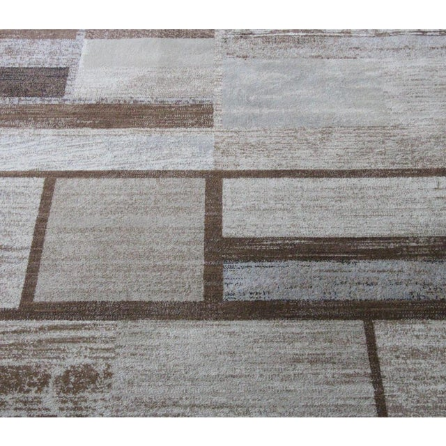 "Brown Neutral Rug - 5'3"" X 7'7"" - Image 4 of 5"