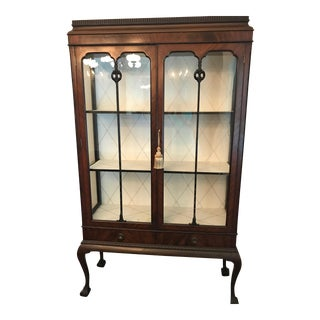 Antique Wood China/ Curio Cabinet
