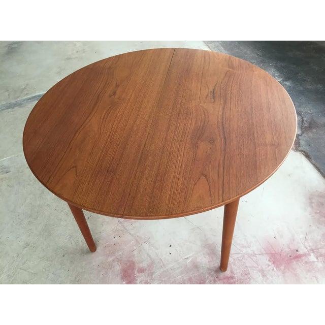 Image of Mid-Century Modern Danish Teak Round Dining Table