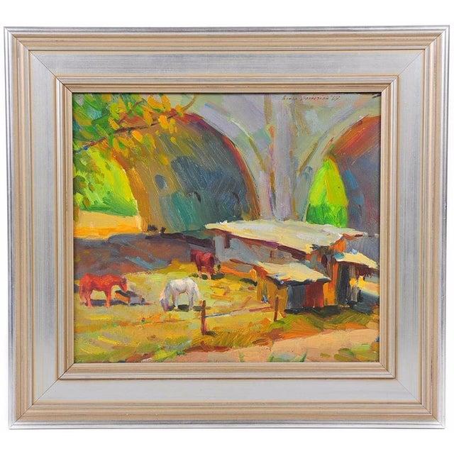 Ovanes Berberian Under the York Bridge Painting - Image 1 of 10