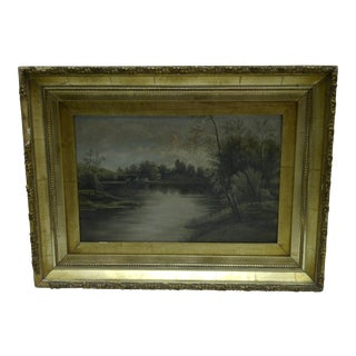 "Original Painting ""On the Lake"""