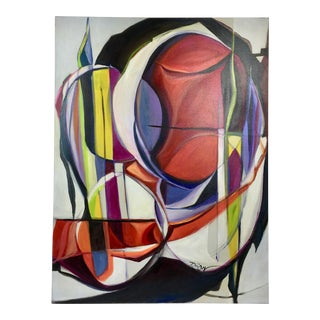 """Deon Robertson """"Spear Heading"""" Abstract Oil on Canvas Painting"""