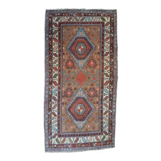 Camel Field Vintage Caucasian Rug - 3′1″ × 5′1″