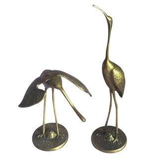 Vintage Brass Herons - A Pair