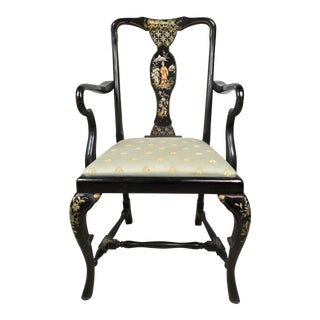 Chinoiserie Hand Painted Arm Chair
