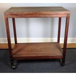Image of Vintage Mid-Century Wood Rolling Bar Cart
