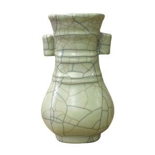 Chinese Ru Ware Celadon Green Ceramic Color Vase cs2603