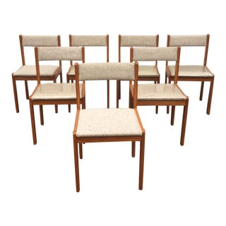 Scandinavian Modern Dining Chairs - Set of 7