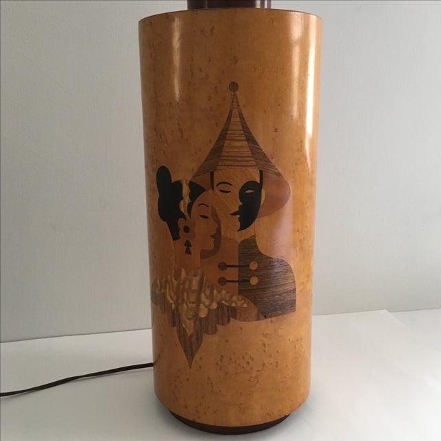 Image of Andrew Szoeke Mid-Century Art Deco Inlaid Lamp