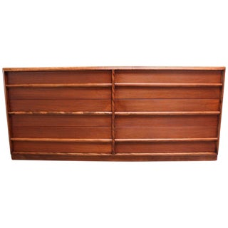 T.H. Robsjohn-Gibbings for Widdicomb Walnut Chest of Drawers