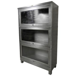 1950s Stacking Metal Bookcase