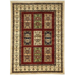 "Tribal Style Hand Knotted Area Rug - 5'1"" X 6'8"""