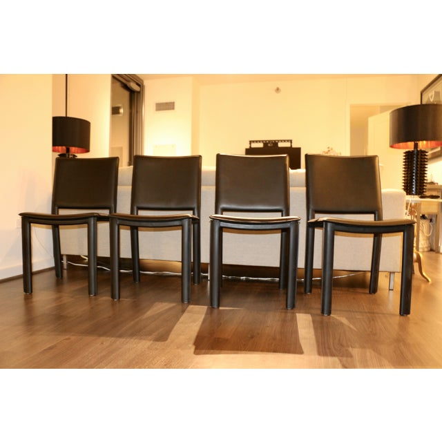 Room and Board Madrid Leather Chairs  Set of 4   Image 3 of 6. Room and Board Madrid Leather Chairs  Set of 4   Chairish