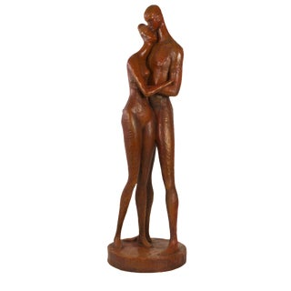 Mid-Century Modern Man & Woman Statue