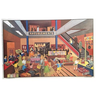 French Vintage Department Store Poster