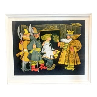 Russian Folk Art Framed Print