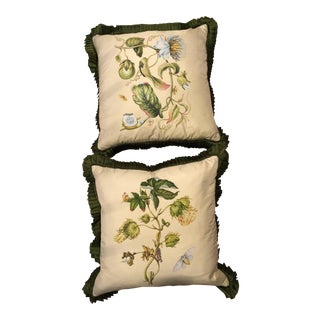 Shantalle Hand Painted on Silk Pillows - A Pair