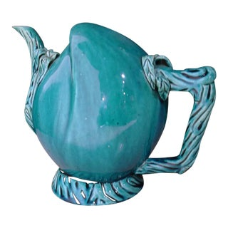 Turquoise Glazed Cadogan Wine or Tea Pot