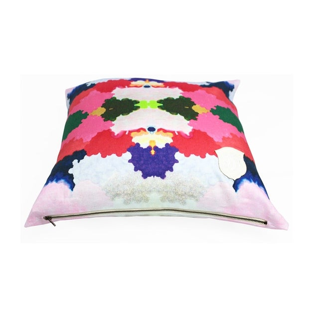 Kristi Kohut Colorful World Pillow - Image 3 of 3