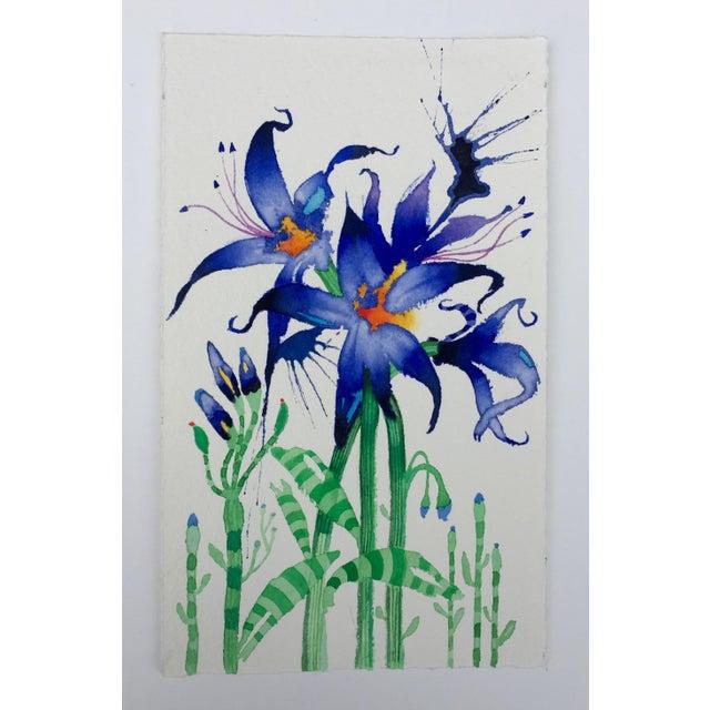 """Fairy Lilies"" Original Watercolor - Image 2 of 3"
