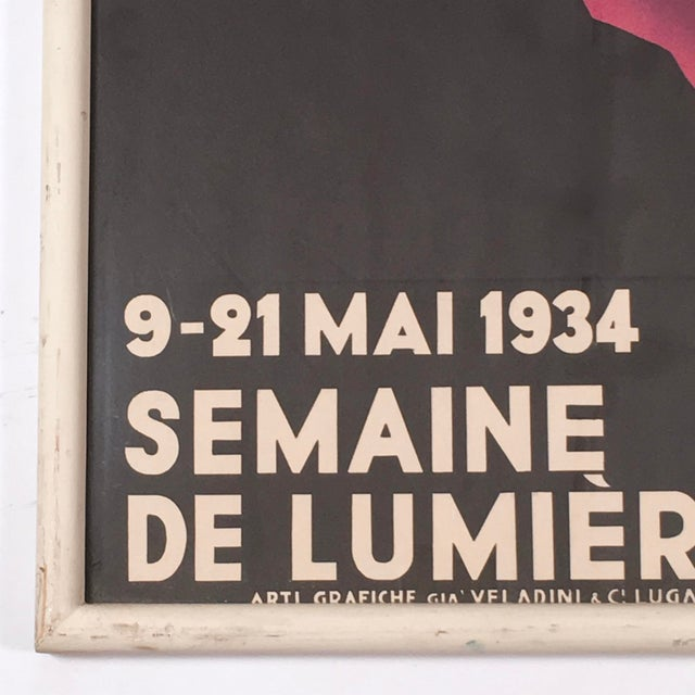 Image of 1934 Semaine De LumièRe (Selu) Swiss Travel Poster from Lugano