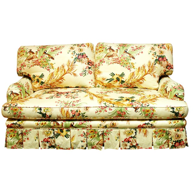 Brunschwig & Fils French Upholstered Toile Sofa - Image 1 of 10
