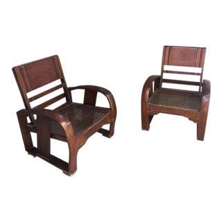Art Deco Deck Chairs - Set of 4