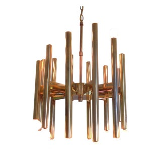 Sciolari Brass Sculptural 24 Lights Chandelier