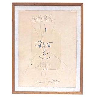 """Vintage Picasso """"Papiers Colles"""" Lithograph"""