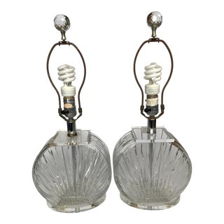 Crystal Clear Industries Crystal & Lucite Lamps - A Pair