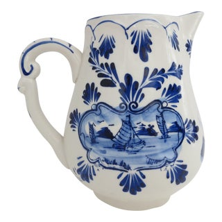 Delft Blue & White Pitcher