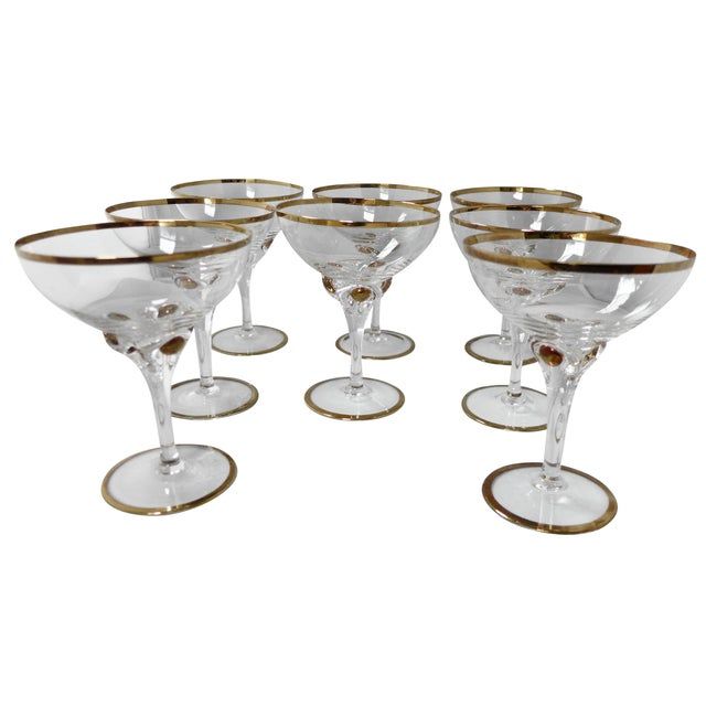 Image of Bohemian Crystal Champagne Glasses - 8