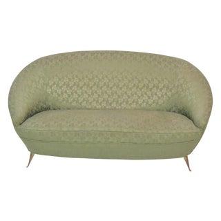 Ico Parisi Style Brass Leg Sofa