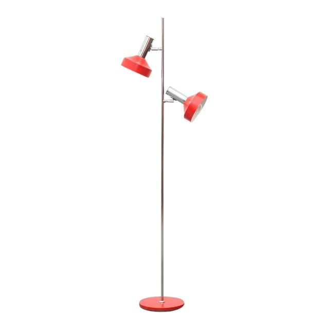 Red multi spot floor lamp chairish for Multi spotlight floor lamp