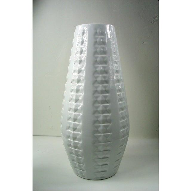 Image of Large White Porcelain Mid-Century Modern Vase