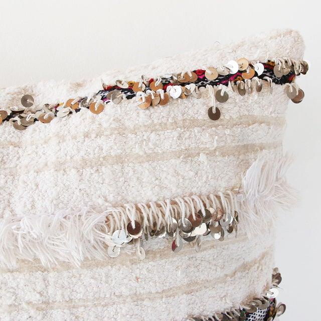Moroccan Handira Wedding Blanket Pillow II - Image 5 of 7