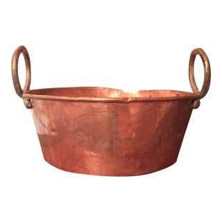 Antique Copper Pot With Handles