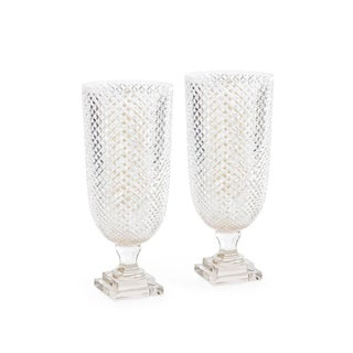 Diamond Pattern Crystal Hurricanes - A Pair
